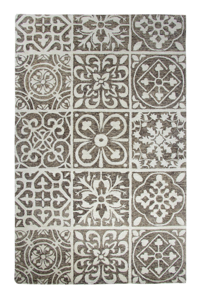 Dynamic Casual 8' x 11' 92334-650 Silver / Charcoal Rug