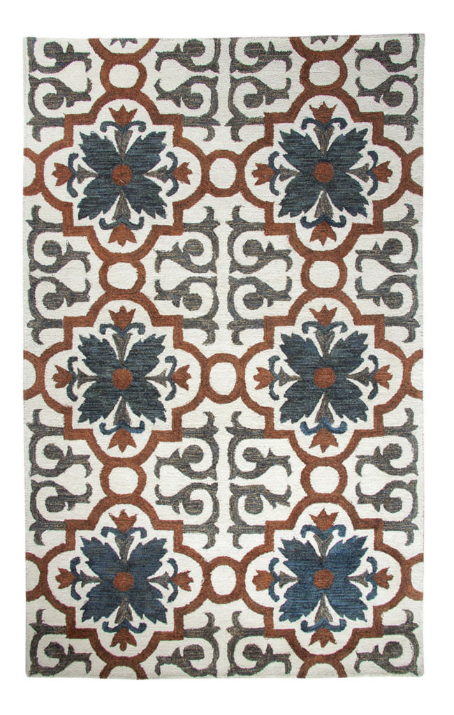 Dynamic Casual 8' x 11' 92336-205 Rust / Blue Rug