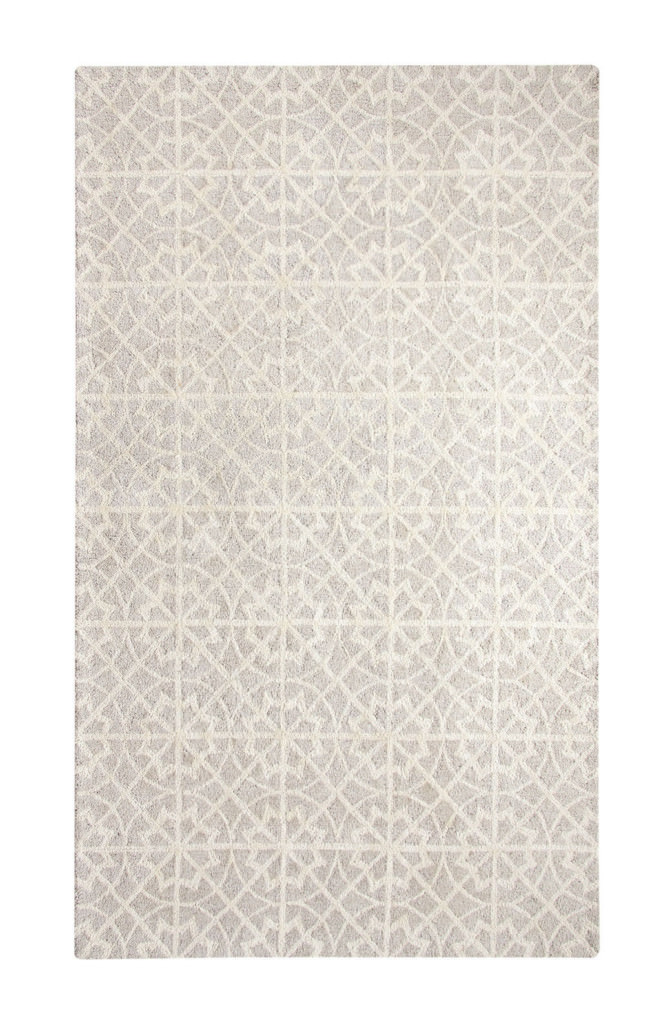 Dynamic Casual 8' x 11' 92337-911 Lt. Grey / Ivory Rug