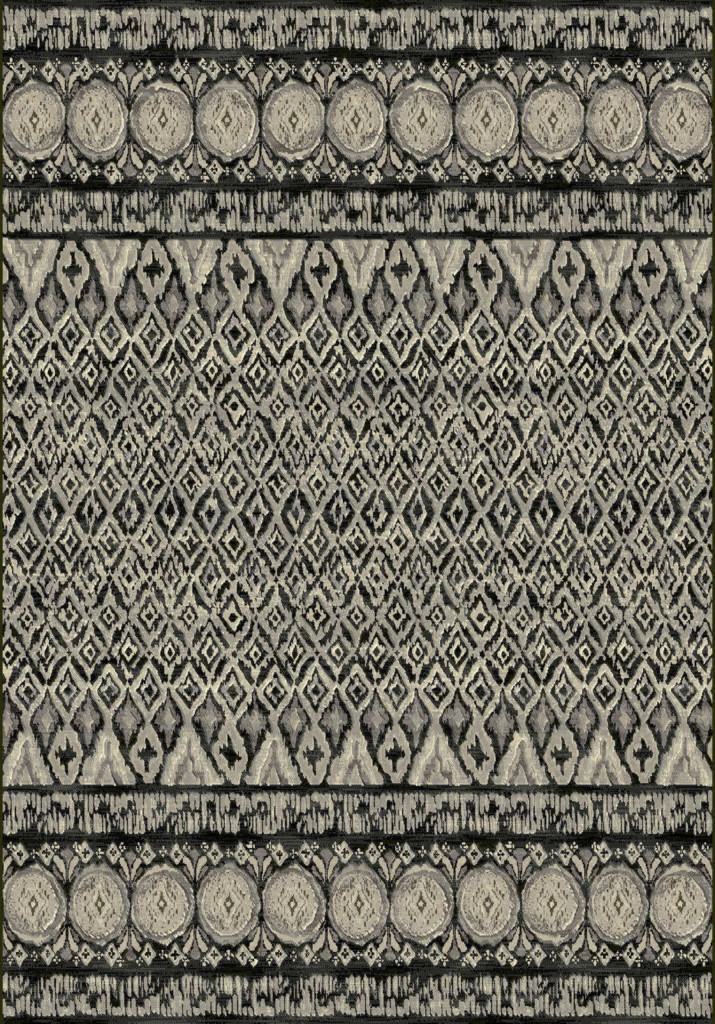 "Dynamic Eclipse 7'-10"" x 10'-10"" 63317-3393 Grey Rug"