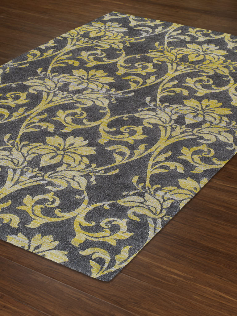 Dalyn Grand Tour GT501 Pewter Rug Floor View