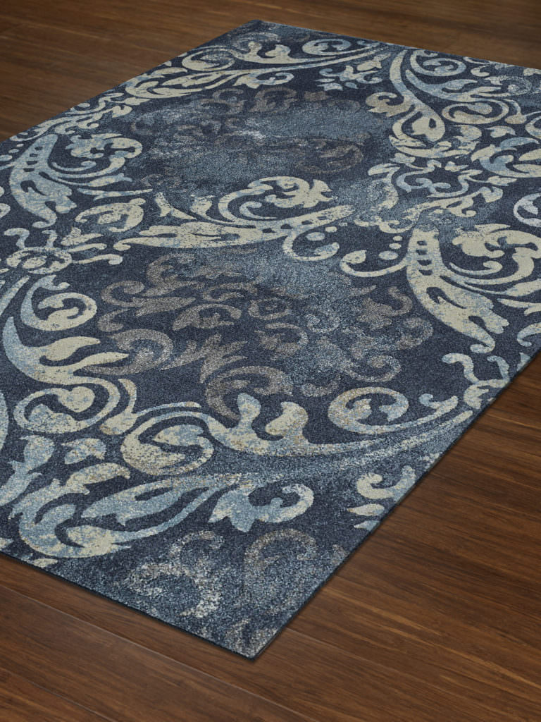 Dalyn Geneva GV213 Navy Rug Floor View