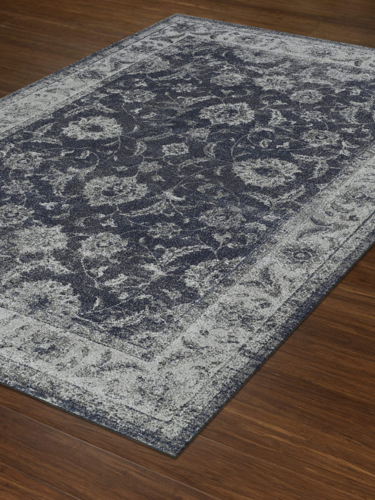 Dalyn Geneva GV4447 Steel Blue Rug Floor View