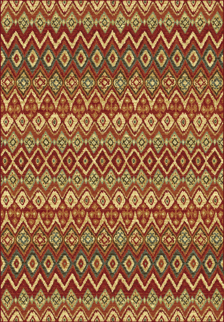 "Dynamic Heritage 7'-10"" x 10'-10"" 89363-1212 Red / Multi Rug"