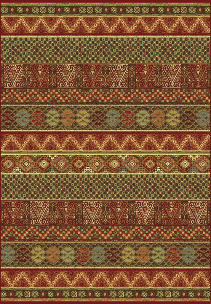 "Dynamic Heritage 7'-10"" x 10'-10"" 89386-1232 Red / Multi Rug"