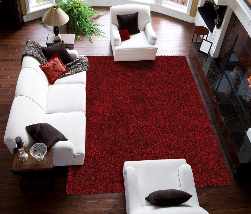 Dalyn Illusions IL69 Red Rug Room View