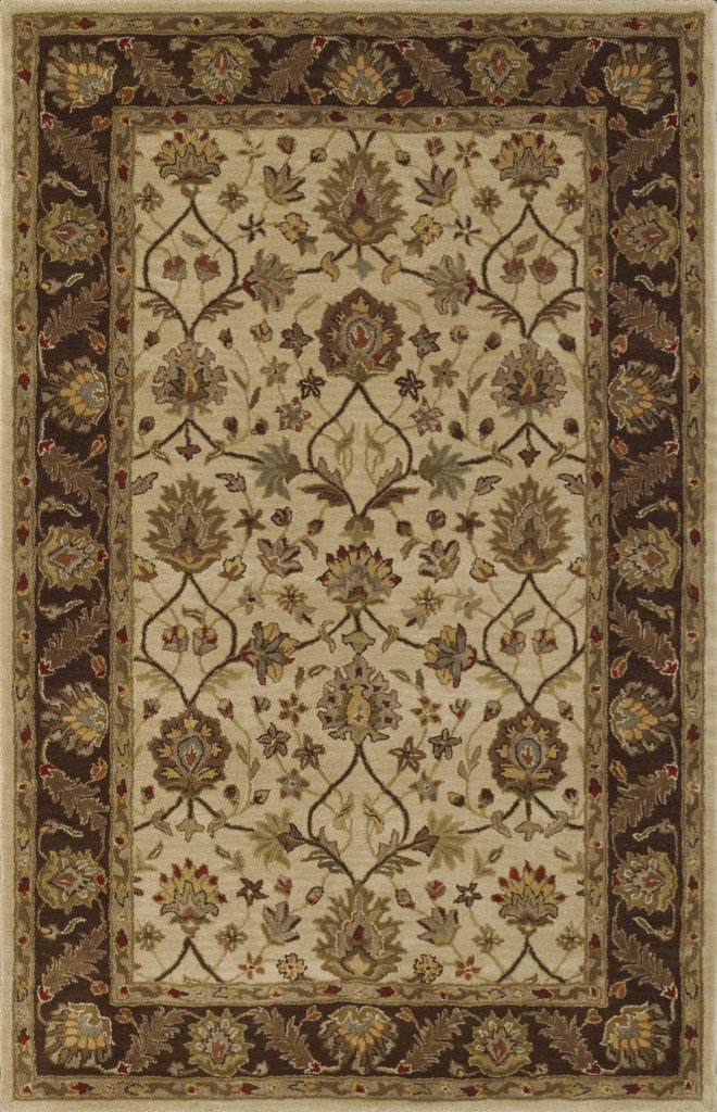Dalyn Jewel JW33 Ivory / Chocolate Rug
