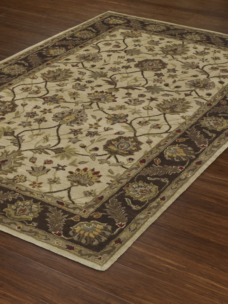 Dalyn Jewel JW33 Ivory / Chocolate Rug Floor View