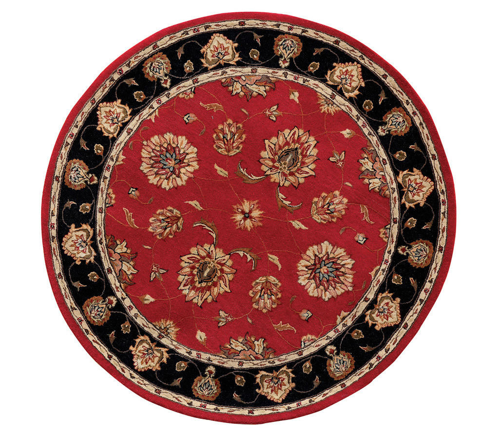 "Dynamic Jewel 7'-10"" x 7'-10"" Round 70230-339 Red Rug"