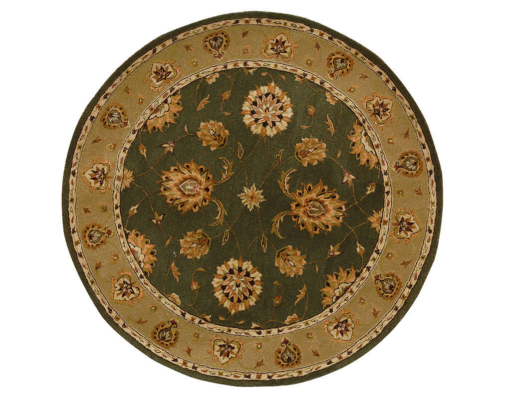 "Dynamic Jewel 7'-10"" x 7'-10"" Round 70230-444 Green Rug"