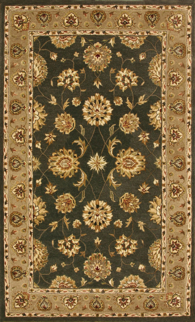 "Dynamic Jewel 9'-6"" x 13'-6"" 70230-444 Green Rug"