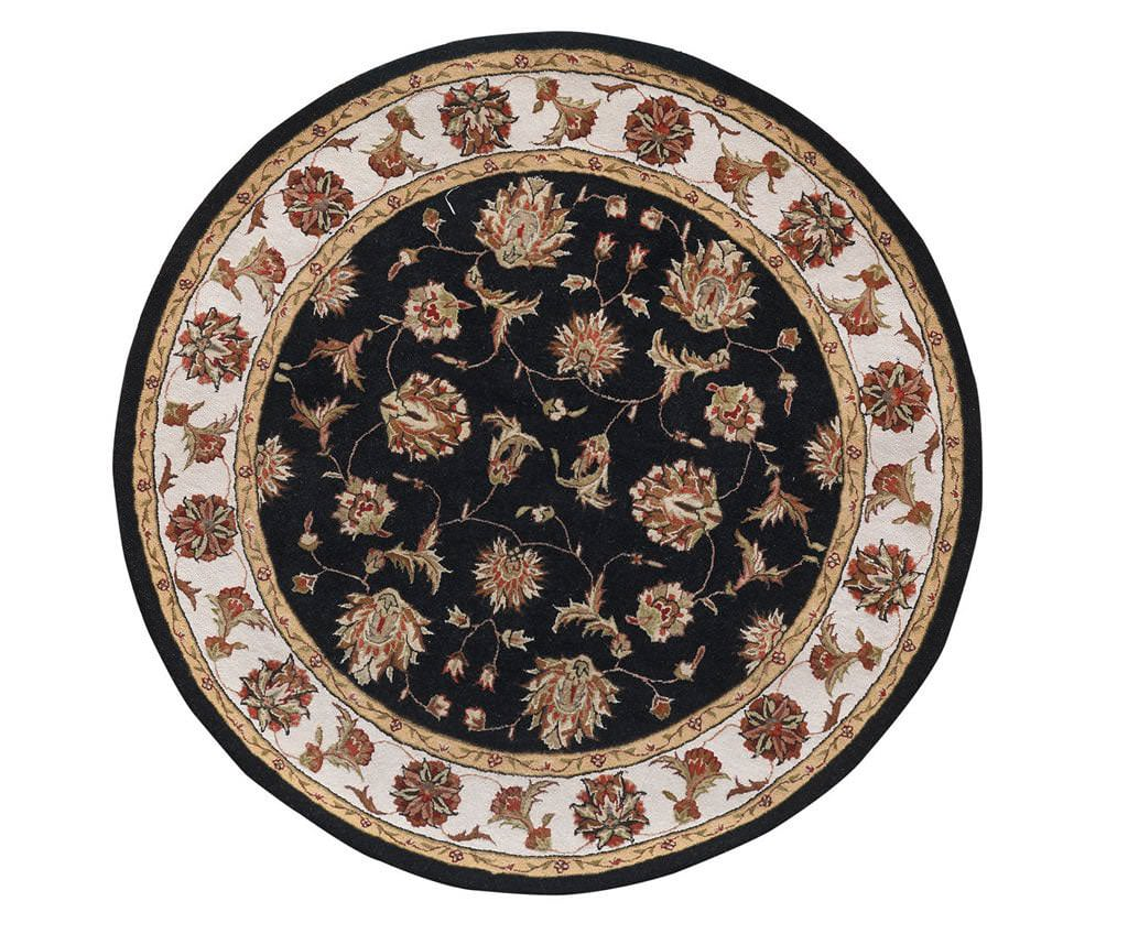 "Dynamic Jewel 7'-10"" x 7'-10"" Round 70231-90 Black Rug"