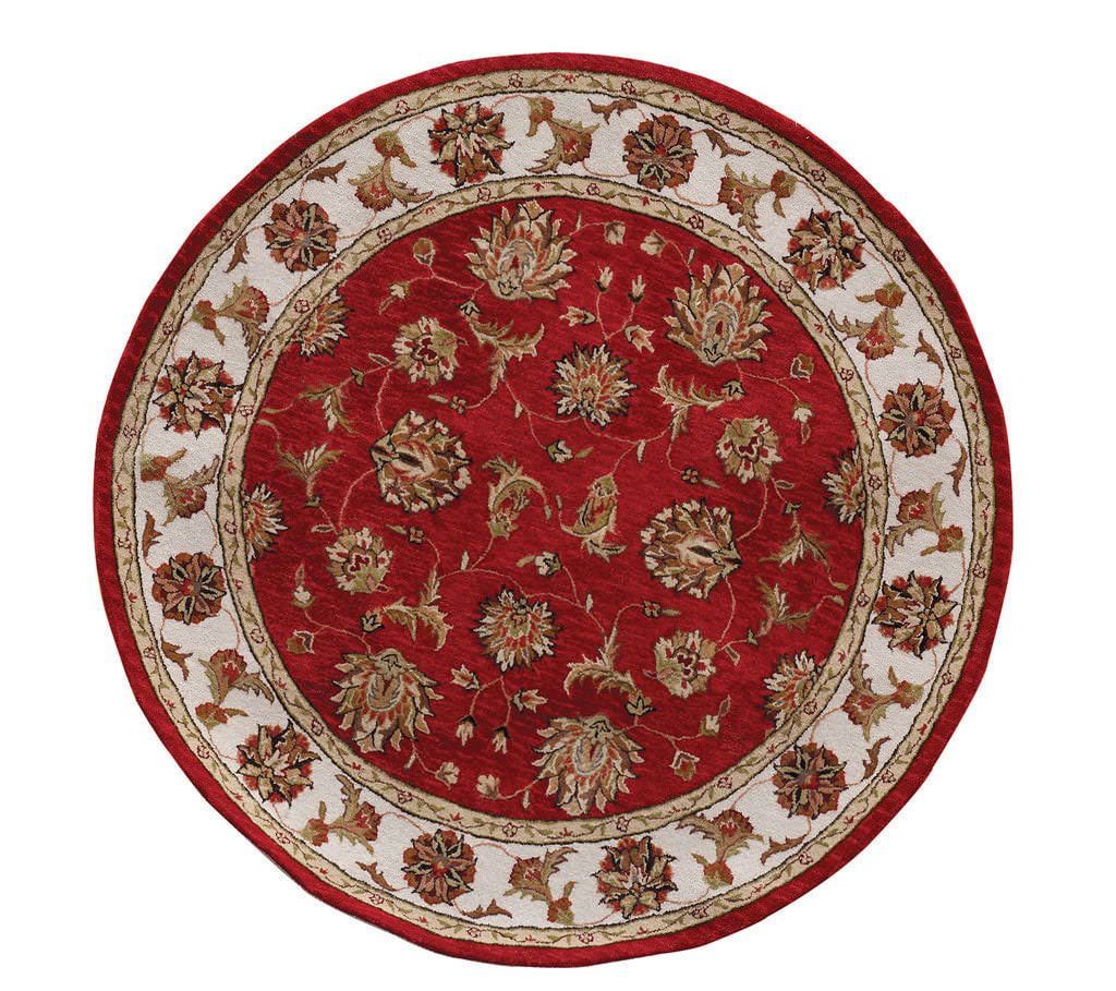 "Dynamic Jewel 7'-10"" x 7'-10"" Round 70231-330 Red Rug"