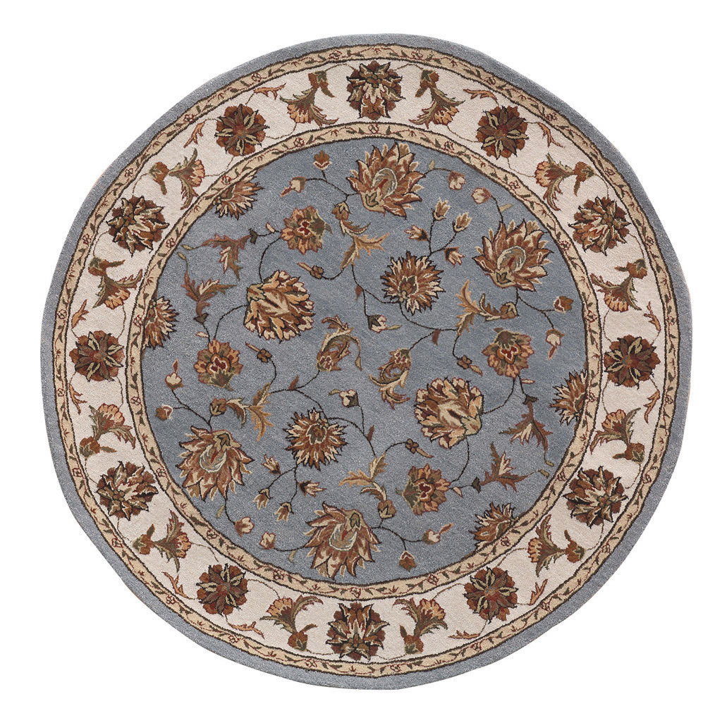 "Dynamic Jewel 7'-10"" x 7'-10"" Round 70231-500 Blue Rug"
