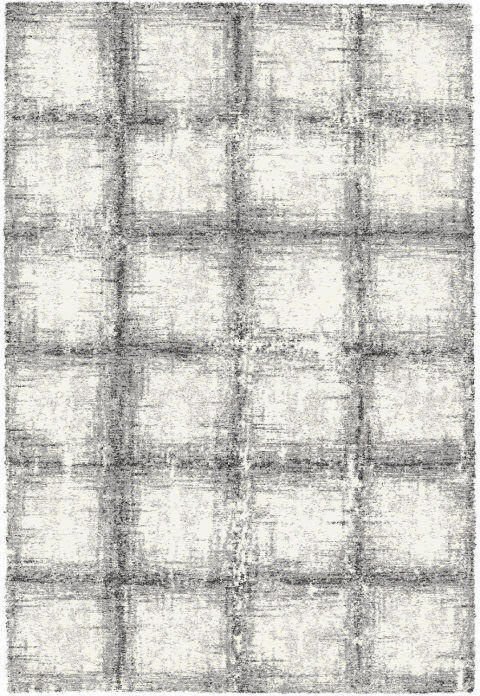 "Dynamic Mehari 7'-10"" x 11'-2"" 23095-6248 Black / White Rug"