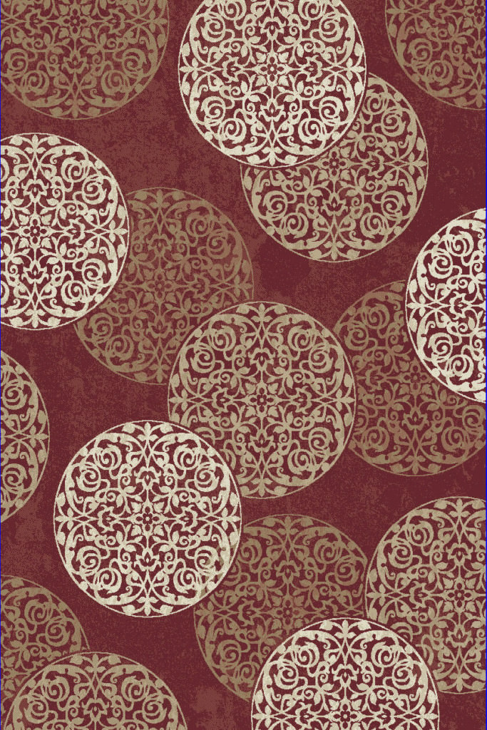 "Dynamic Melody 9'-2"" x 12'-10"" 985014-339 Red Rug"