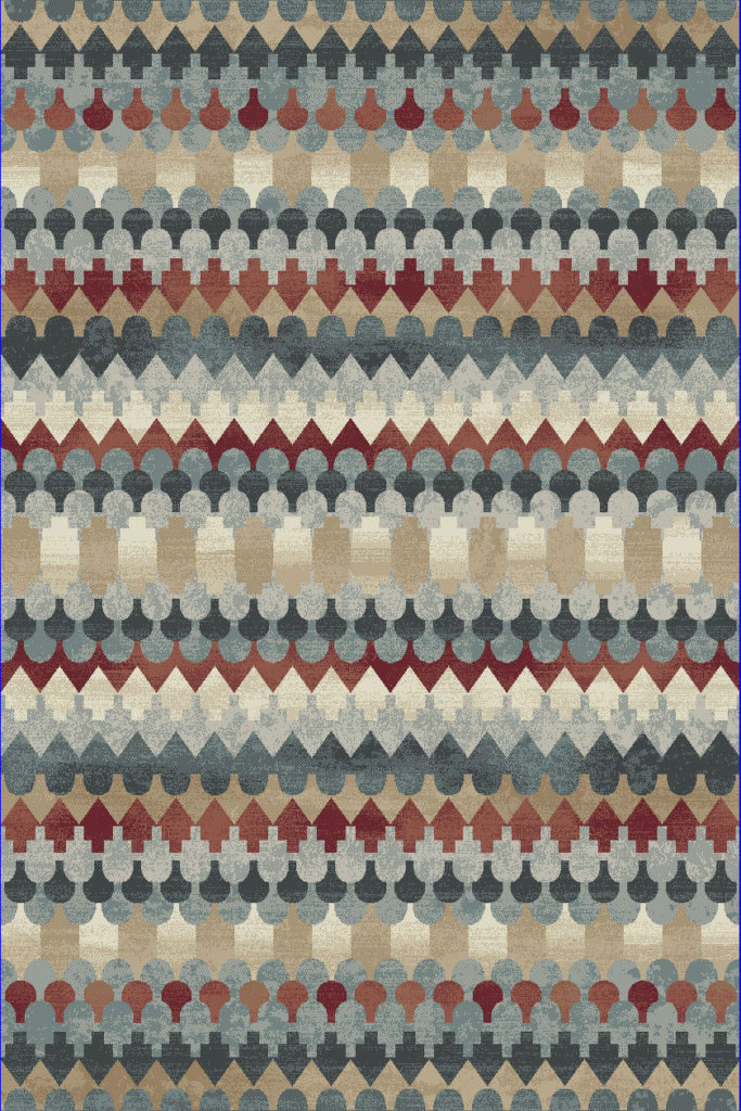 "Dynamic Melody 9'-2"" x 12'-10"" 985016-996 Multi Rug"