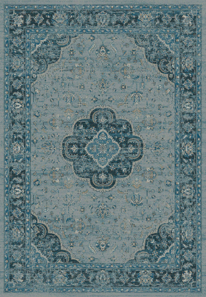 "Dynamic Regal 7'-10"" x 11'-2"" 88910-4989 Blue Rug"