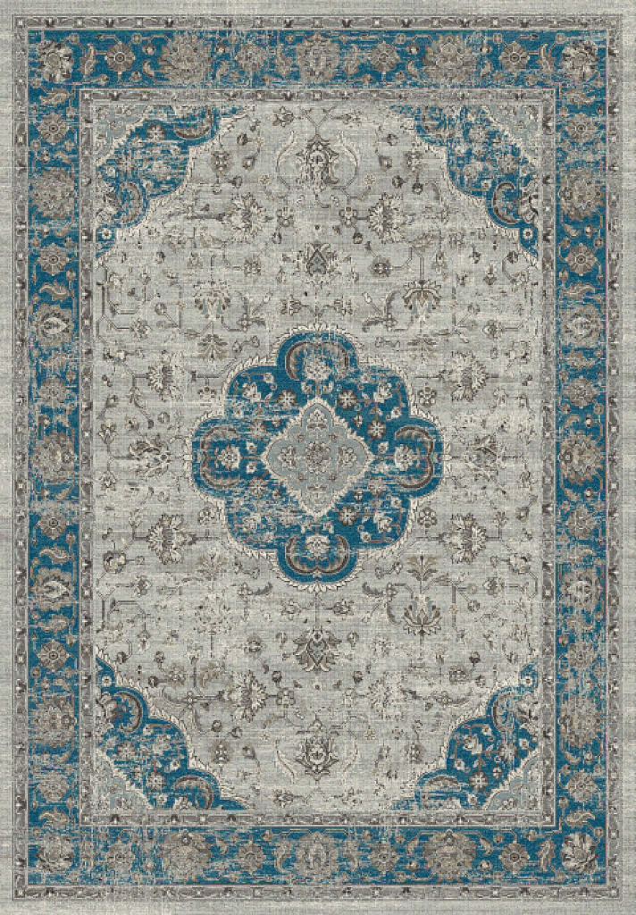 "Dynamic Regal 7'-10"" x 11'-2"" 88910-5989 Grey / Blue Rug"