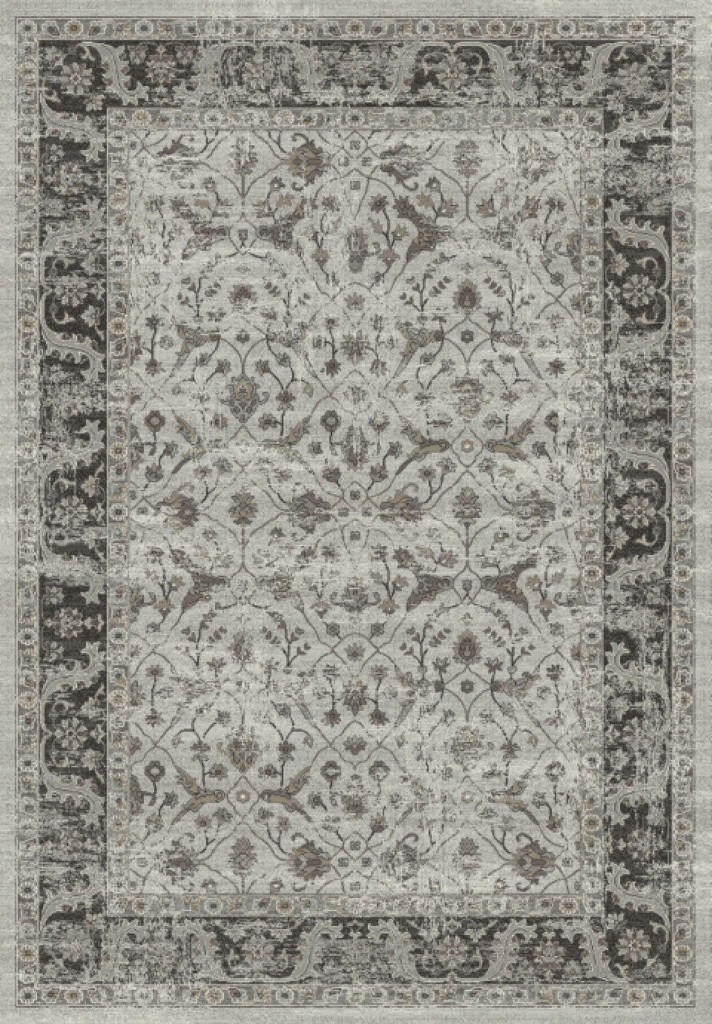 "Dynamic Regal 7'-10"" x 11'-2"" 88911-5979 Grey / Silver Rug"