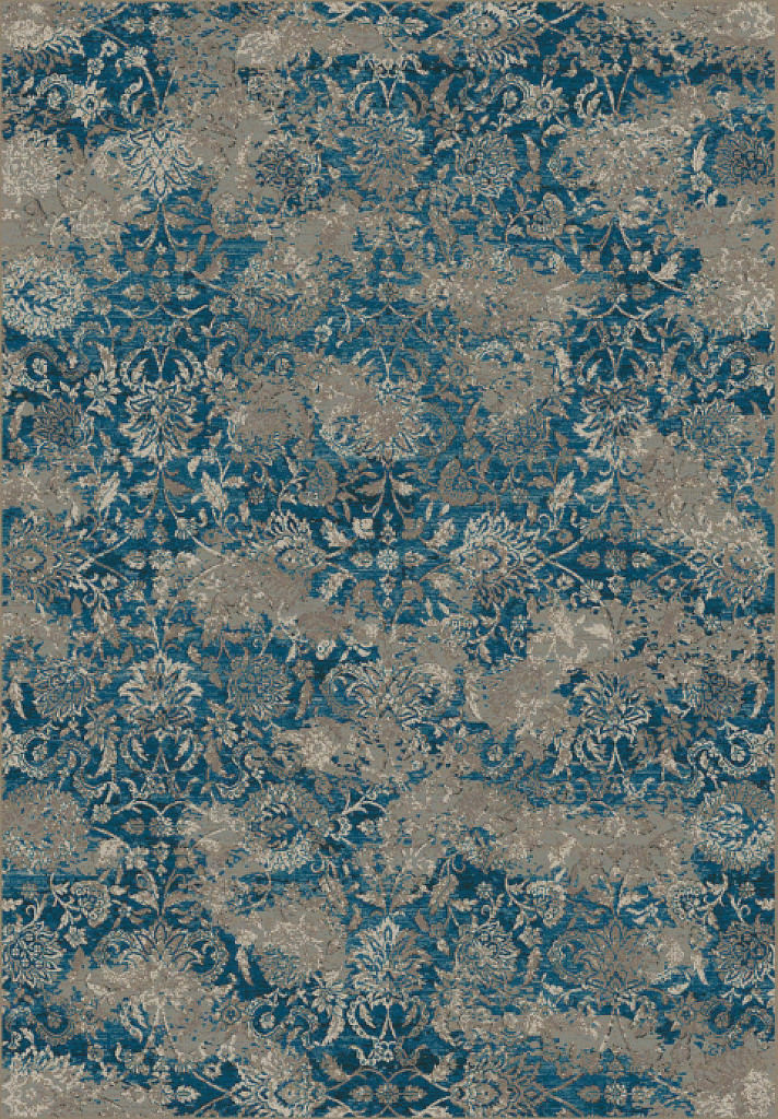 "Dynamic Regal 7'-10"" x 11'-2"" 89536-8929 Blue / Taupe Rug"