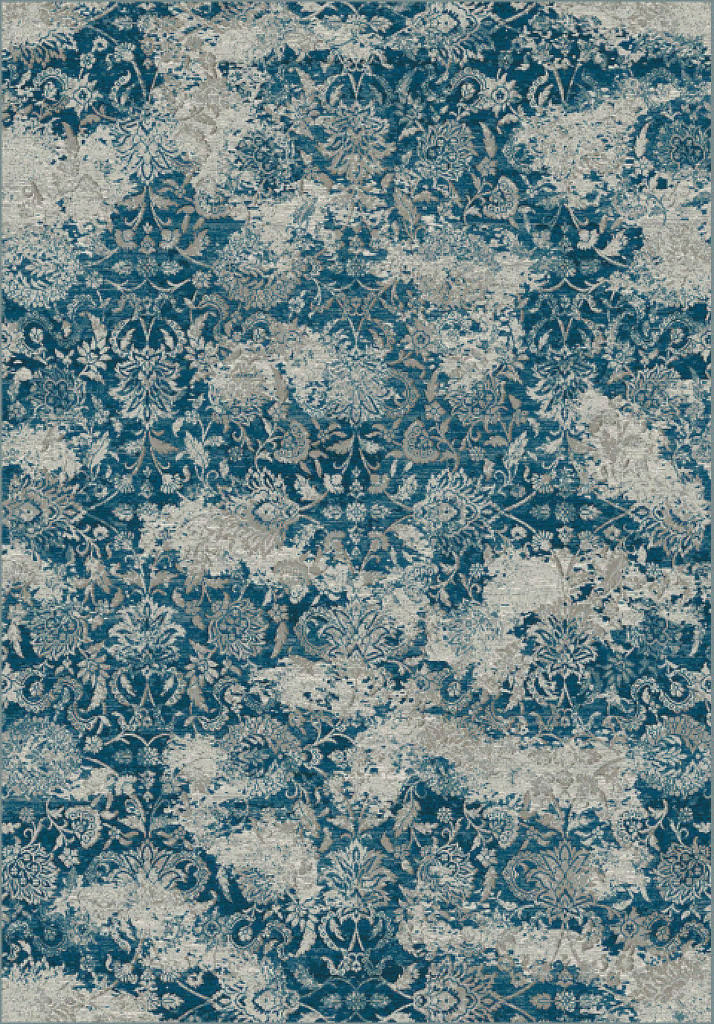 "Dynamic Regal 7'-10"" x 11'-2"" 89536-8959 Blue / Grey Rug"