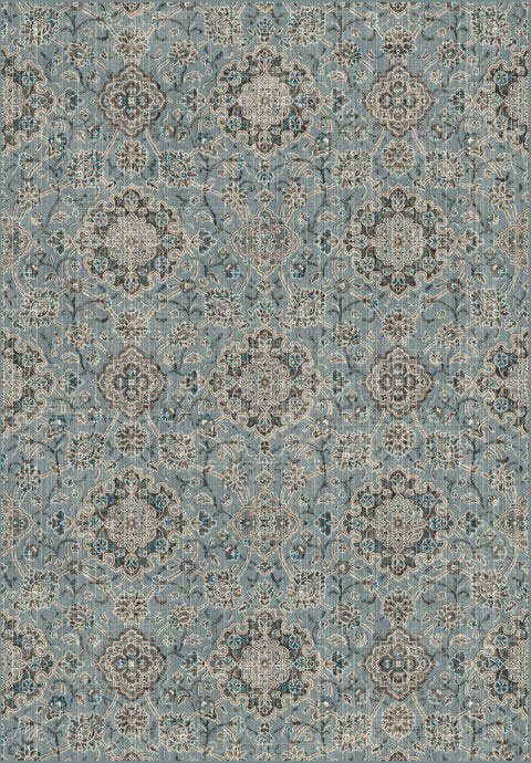 "Dynamic Regal 7'-10"" x 11'-2"" 89665-4929 Blue / Taupe Rug"
