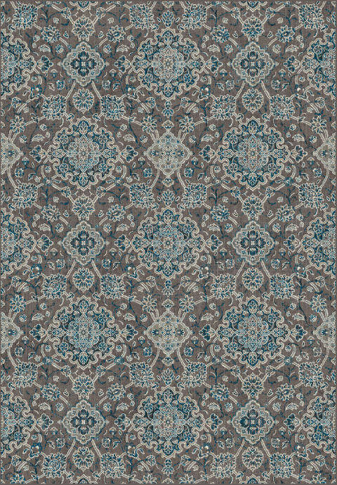 "Dynamic Regal 7'-10"" x 11'-2"" 89665-7949 Blue / Chocolate Rug"