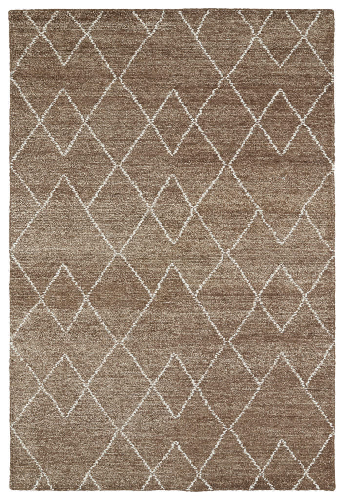 Kaleen Solitaire SOL07-49 Brown Rug