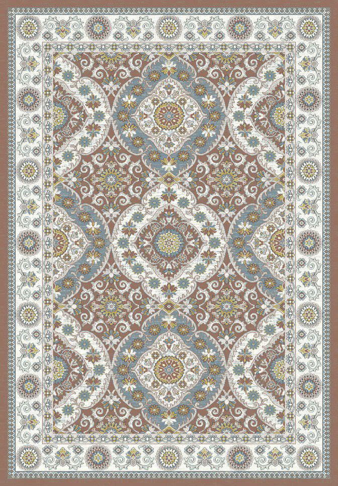 "Dynamic Venice 9'-2"" x 12'-10"" 1578-106 Rust / Cream Rug"