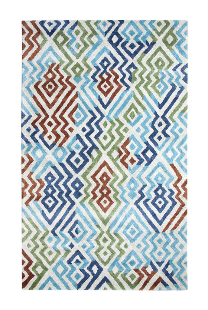 Dynamic Vogue 8' x 11' 881000-561 Silver / Turquoise Rug