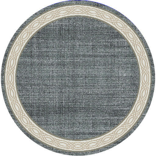 "Dynamic Yazd 5'-3"" x 5'-3"" Round 1770-590 Blue / Grey Rug"