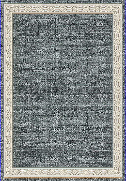 "Dynamic Yazd 7'-10"" x 10'-10"" 1770-590 Blue / Grey Rug"
