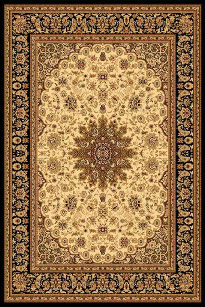 "Dynamic Yazd 7'-10"" x 10'-10"" 2800-190 Cream-Black Rug"