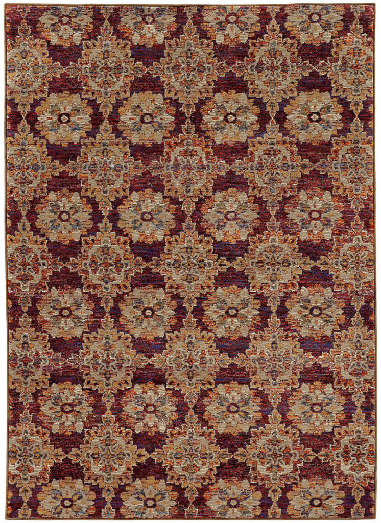 Oriental Weavers Andorra ANR 6883A Red / Gold Rug