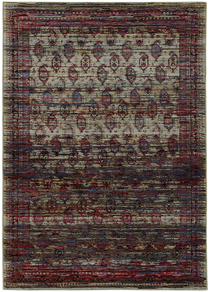 Oriental Weavers Andorra ANR 7122D Multi / Red Rug