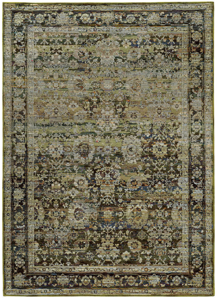 Oriental Weavers Andorra ANR 7125C Green / Brown Rug