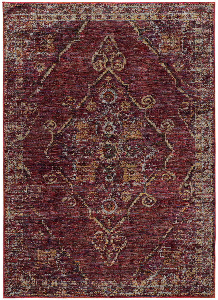 Oriental Weavers Andorra ANR 7135E Red / Gold Rug