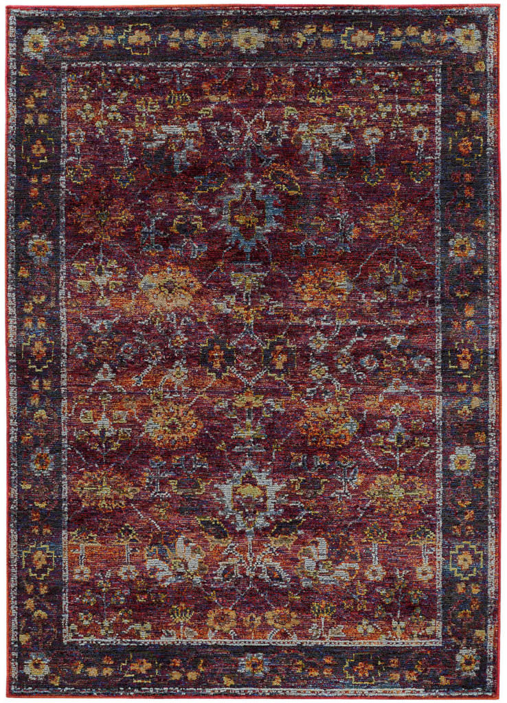 Oriental Weavers Andorra ANR 7153A Red / Purple Rug