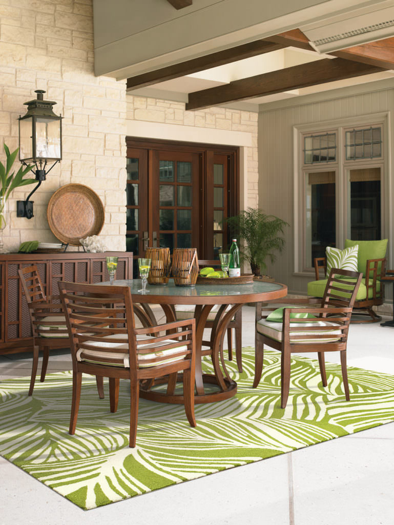 Tommy Bahama Atrium ATU 51104 Green / Ivory Room View