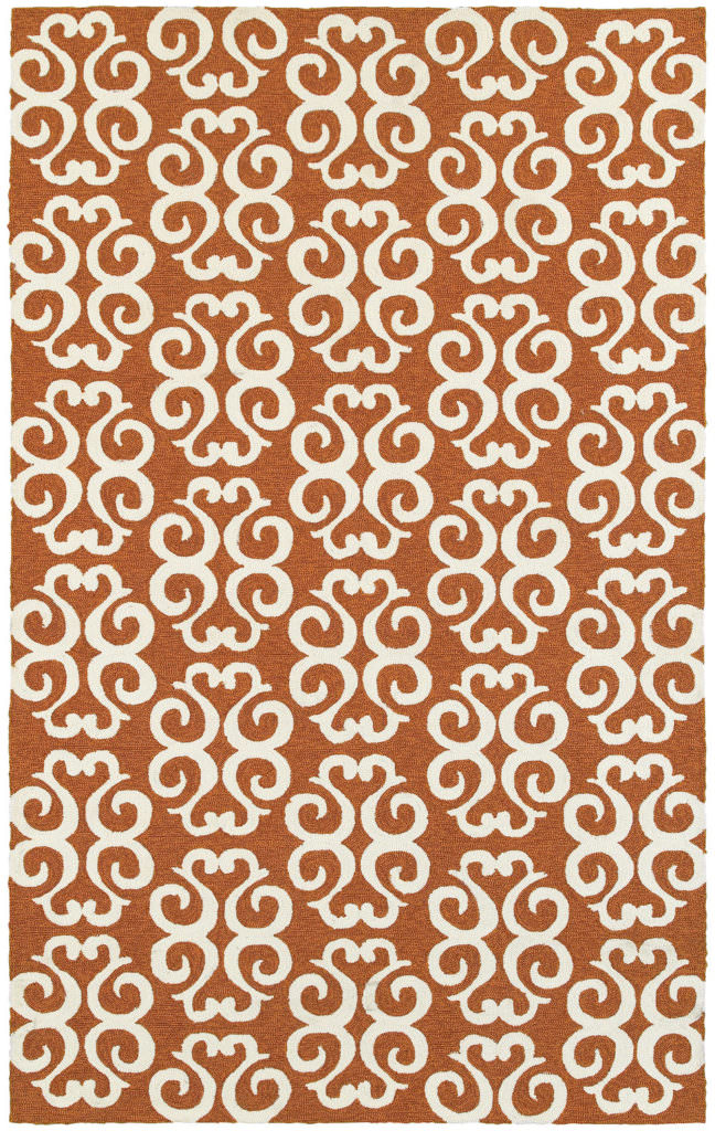 Tommy Bahama Atrium ATU 51107 Orange / Ivory Rug