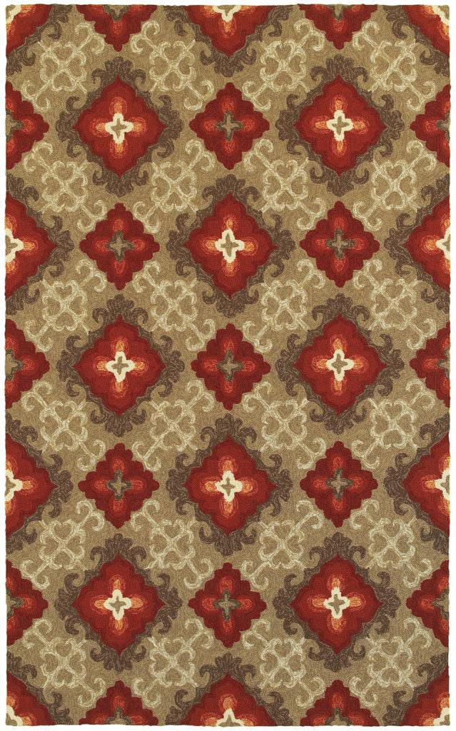 Tommy Bahama Atrium ATU 51109 Brown / Red Rug