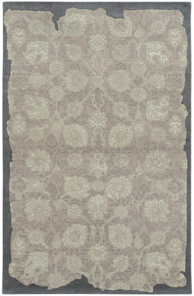 CIN 45101 Grey / Green Rug