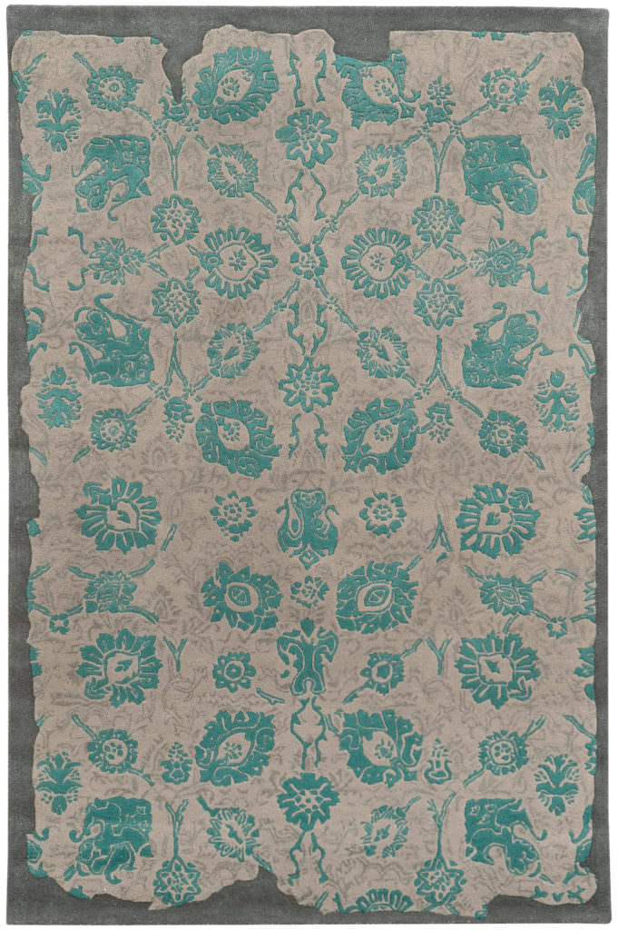 CIN 45103 Grey / Teal Rug