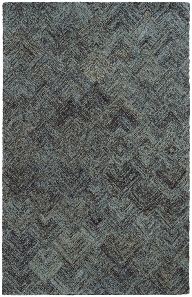 CLR 42110 Charcoal / Blue Rug