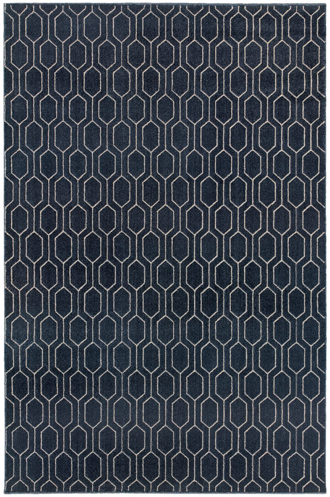 Oriental Weavers Ellerson ELR 8021X Navy / Grey Rug