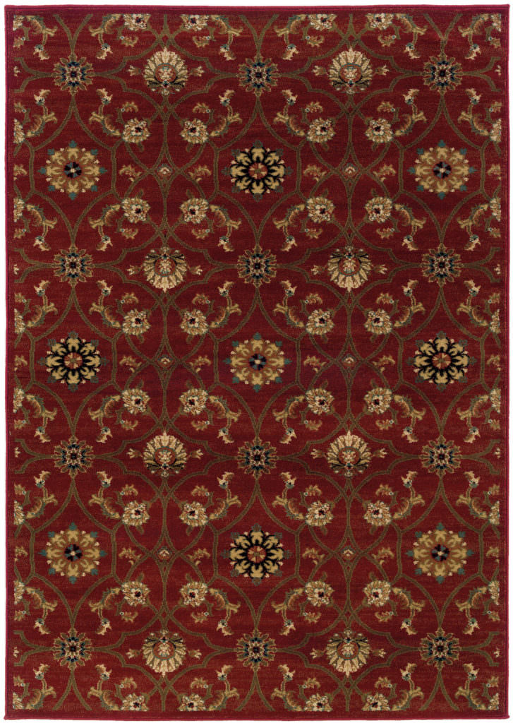 Oriental Weavers Hudson HUD 3299A Red / Brown Rug
