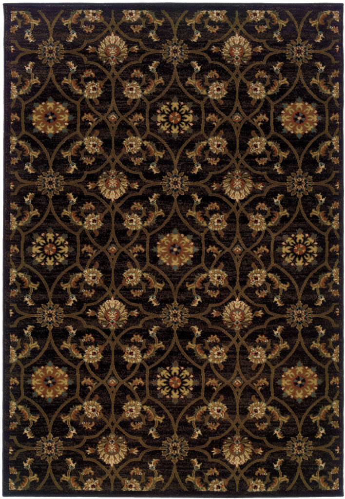 Oriental Weavers Hudson HUD 3299B Black / Brown Rug