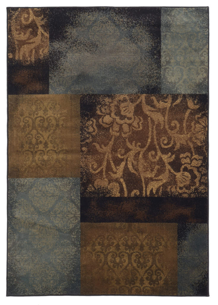 Oriental Weavers Hudson HUD 4878B Blue / Brown Rug