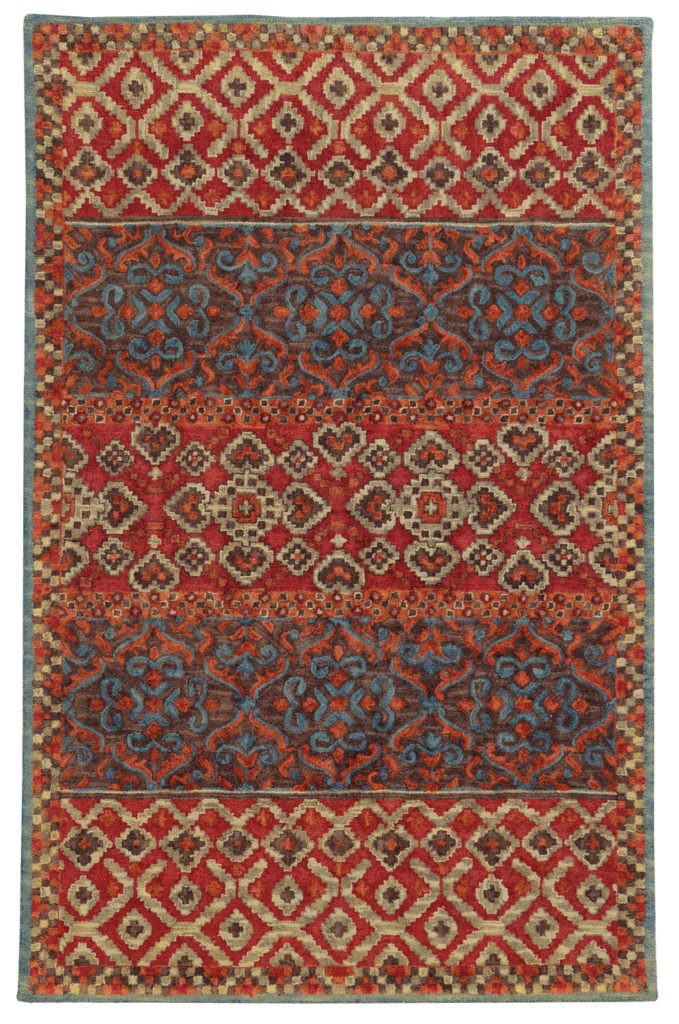 Tommy Bahama Jamison JAM 53301 Red / Blue Rug
